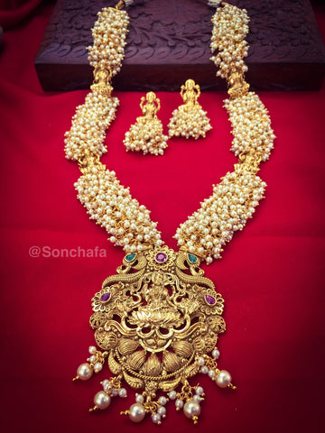 SOUTH PATTERN LAXMI NECKLACE