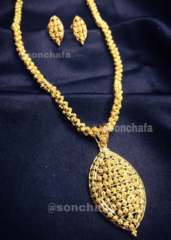 DROPLET GOLD PENDANT SET