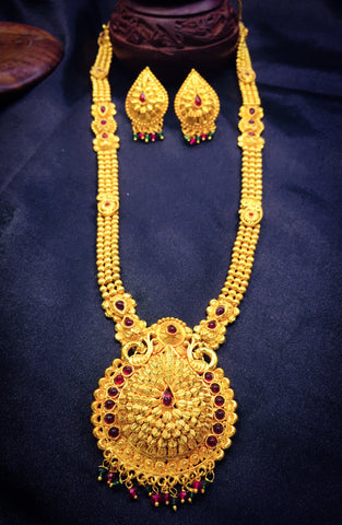 Peshwai Necklace With Droplet Pendant | Buy Online Jewellery | Sonchafa