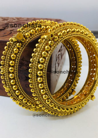 GOLDEN BEADS ANTIQUE KANGAN