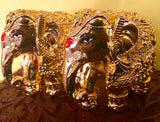 GOLD TONED GAJANTLAXMI