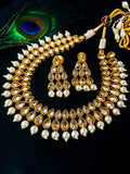 KUNDAN WITH PEARL BEADS NECKLACE