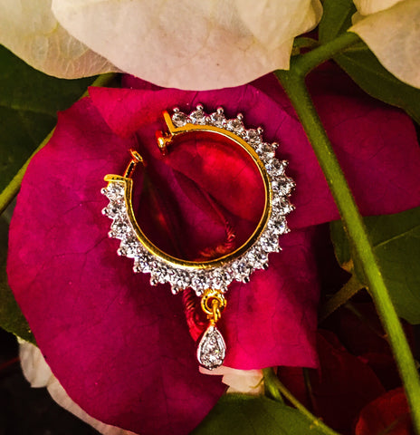 Floral Nose Ring | Designer Floral Nose Ring | Buy Online | Sonchafa