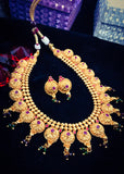 ELEGANT GOLDEN BEADS NECKLACE