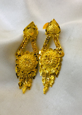 FLORET GOLD PLATED EARRINGS