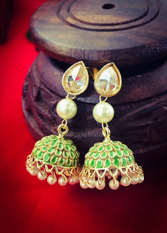 MULTI COLOUR FANCY JHUMKI EARRINGS