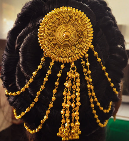 GOLDEN BEADS HAIR CHAIN