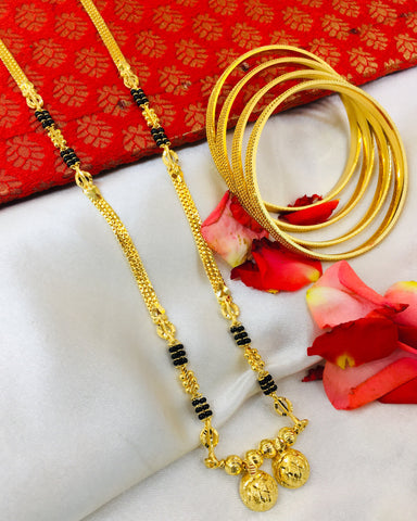 DELICATE FANCY MANGALSUTRA WITH FREE BANGLES