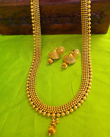 ANTIQUE GOLDEN BEADS NECKLACE