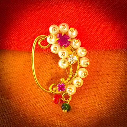 Simple Design Pearl Nath | Buy Online | Sonchafa