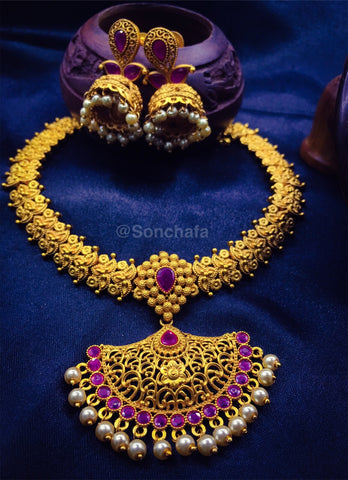 UNIQUE DESIGNER PESHWAI NECKLACE