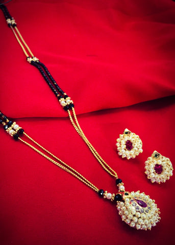 SIMPLE PEARL MANGALSUTRA