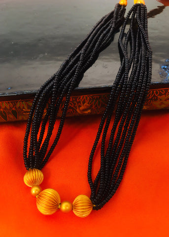 MATTE GOLDEN BEADS MANGALSUTRA