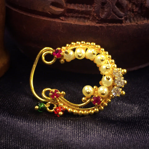 Half Moonshape Designer Nath | Stylish Nose Rings | Sonchafa