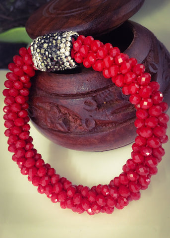 RED FANCY CRISTAL BRACELET