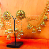 JHUMKA EARRINGS WITH KANCHAIN