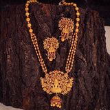 LAKSHMI PENDENT SET WITH GOLDEN BEADS
