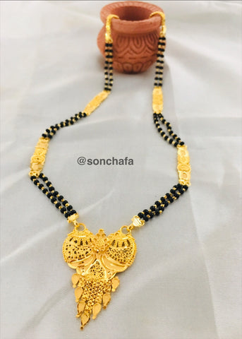 SHORT GOLD PLATED MANGALSUTRA
