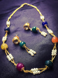 MULTI BEADS WITH PEARL NECKLACE