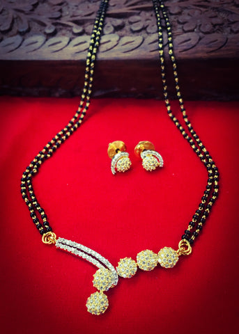 VERY CLASSY GOLD FINISH MANGALSUTRA