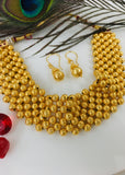 GOLDEN BEADS CHOKER NECKLACE