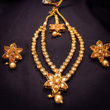 GOLDEN SPARK DIA DIAMOND NECKLACE SET
