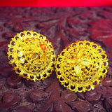 ROUND GOLD PLATED EARRINGS
