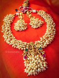 PEARL BEADS TEMPLE NECKLACE