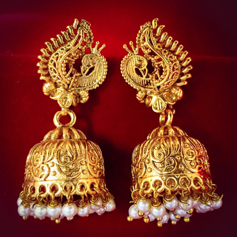 TRADITIONAL PEACOCK DESIGNER JHUMKA