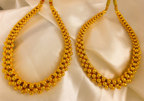 SIMPLE GOLD FINISH MAHALAXMI THUSHI