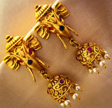 GAJMUKH WITH JHUMKI EARRINGS