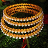 Designer Moti Bangles-Studded With Pearl beads | Buy Online | Sonchafa