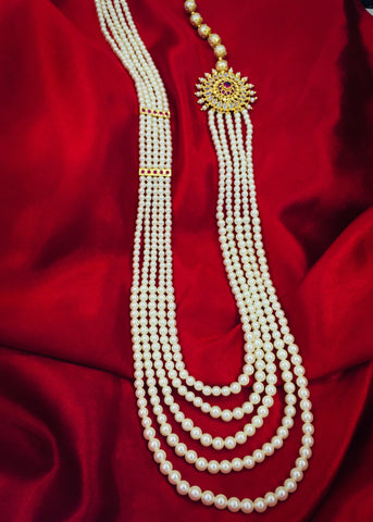 MULTI LAYER DESIGNER PEARL NECKLACE