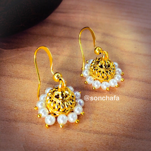ANTIQUE PEARL JHUMKI