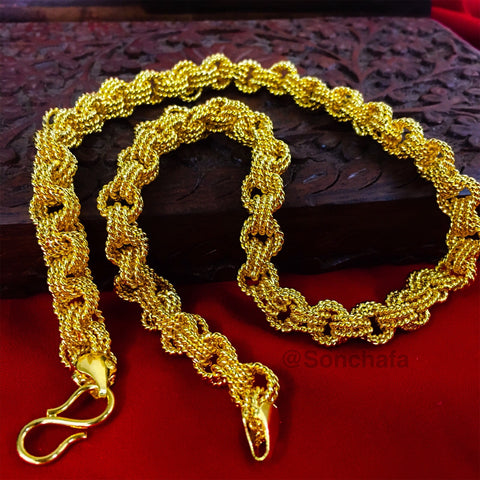TRENDY GOLD PLATED CHAIN