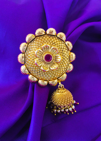 FLORET SAREEPIN WITH JHUMKI