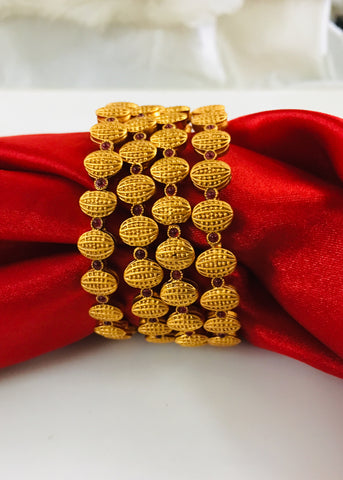 GOLD FINISH SIMPLE BANGLES