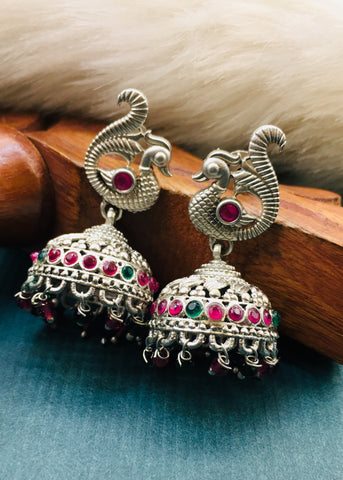 ATTRACTIVE SILVER JHUMKI