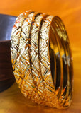 4 PC GOLD PLATED BANGLES