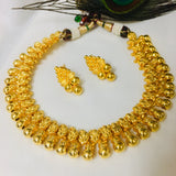 GOLD BEADS MALHAR NECKLACE