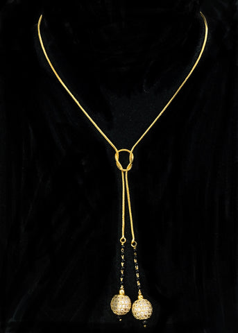 GOLDEN CHAIN WITH BEADS MANGALSUTRA