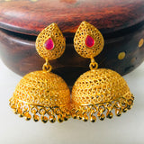 GOLD FINISH DESIGNER JHUMKA