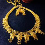 FLORAL GOLD PLATED NECKLACE