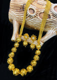 GOLDEN BEADS WITH LAYER NECKLACE