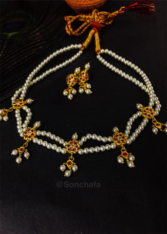 FLOWER CHINCHPETI NECKLACE