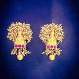 PESHWAI GOLDEN BEADS EARRINGS