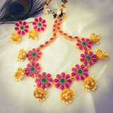 JHUMKI PENDANT FLORAL NECKLACE
