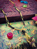 BLACK BEADS GOLD PLATED MANGALSUTRA