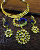 PEACOCK DESIGN KUNDAN NECKLACE