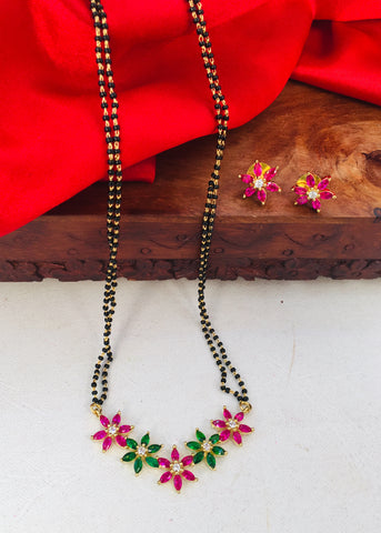 BEAUTIFUL FLORAL STYLE  MANGALSUTRA